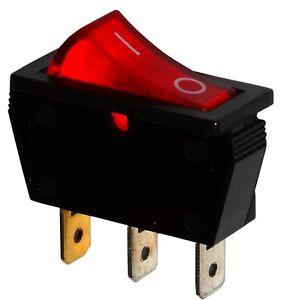Interrupteur Commutateur Contacteur Bouton à Bascule Rouge Spst On-off 15a/250v