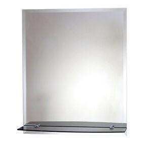 badspiegel mit ablage badezimmerspiegel spiegel und facettenschlif ca 40x50 cm ebay. Black Bedroom Furniture Sets. Home Design Ideas