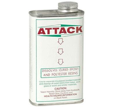 ATTACK SOLVENT - Glue and Epoxy Dissolving Compound - 8.0 FL OZ New