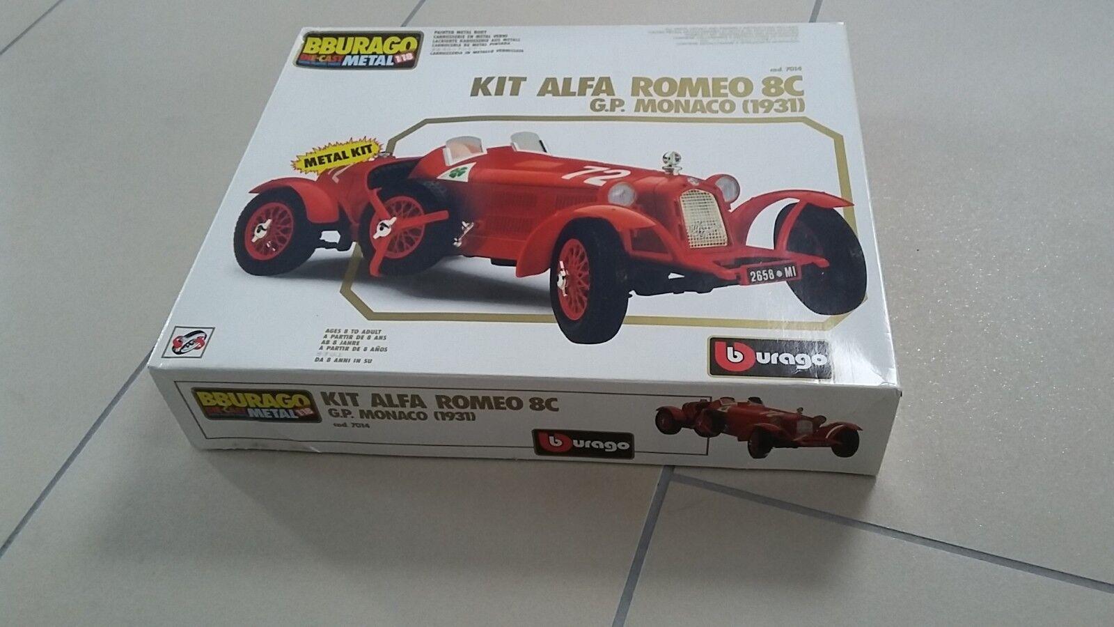 Bburago metal kit 1 18 Alfa Alfa Alfa Romeo 8c GP Monaco (1931) - neuwertig f42bbc