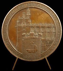 Médaille restauration du château de Saint-Germain-en-Laye 1868 Borrel Medal - France - Type: Médailles franaises Métal: Bronze argenté - France