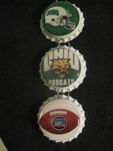 "1"" Bottle Cap Image Inside RView Mirror Handcrafted Gift Idea Bobcats"