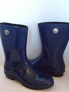b7ed1adcad2 Details about UGG SIENNA Rain boots Blue Jay / Sheepskin insole US 9 /40  New 1014452