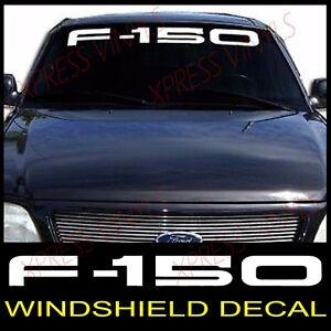 FORD F Windshield Window Vinyl Decal Sticker Custom Vehicle - Custom vehicle window decals