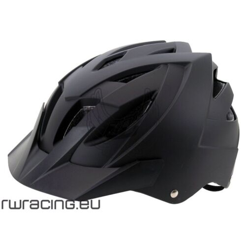 matt black bicycle helmet Casco bici mtb nero opaco Ventura taglia M o L
