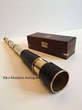 Vintage Brass Telescope Antique 20 Inch Hand Extending Naval Victorian Pirate