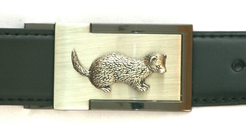 Ferret Emblem Belt Buckle And Leather Belt In Gift Tin Ideal Hunting Present 126