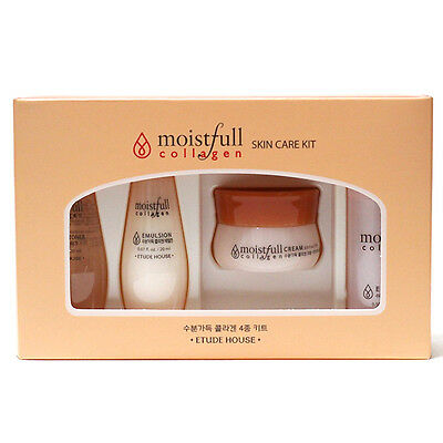 [ETUDE HOUSE] Moistfull Collagen Skin Care Kit 4 items / Etude House Samples Kit