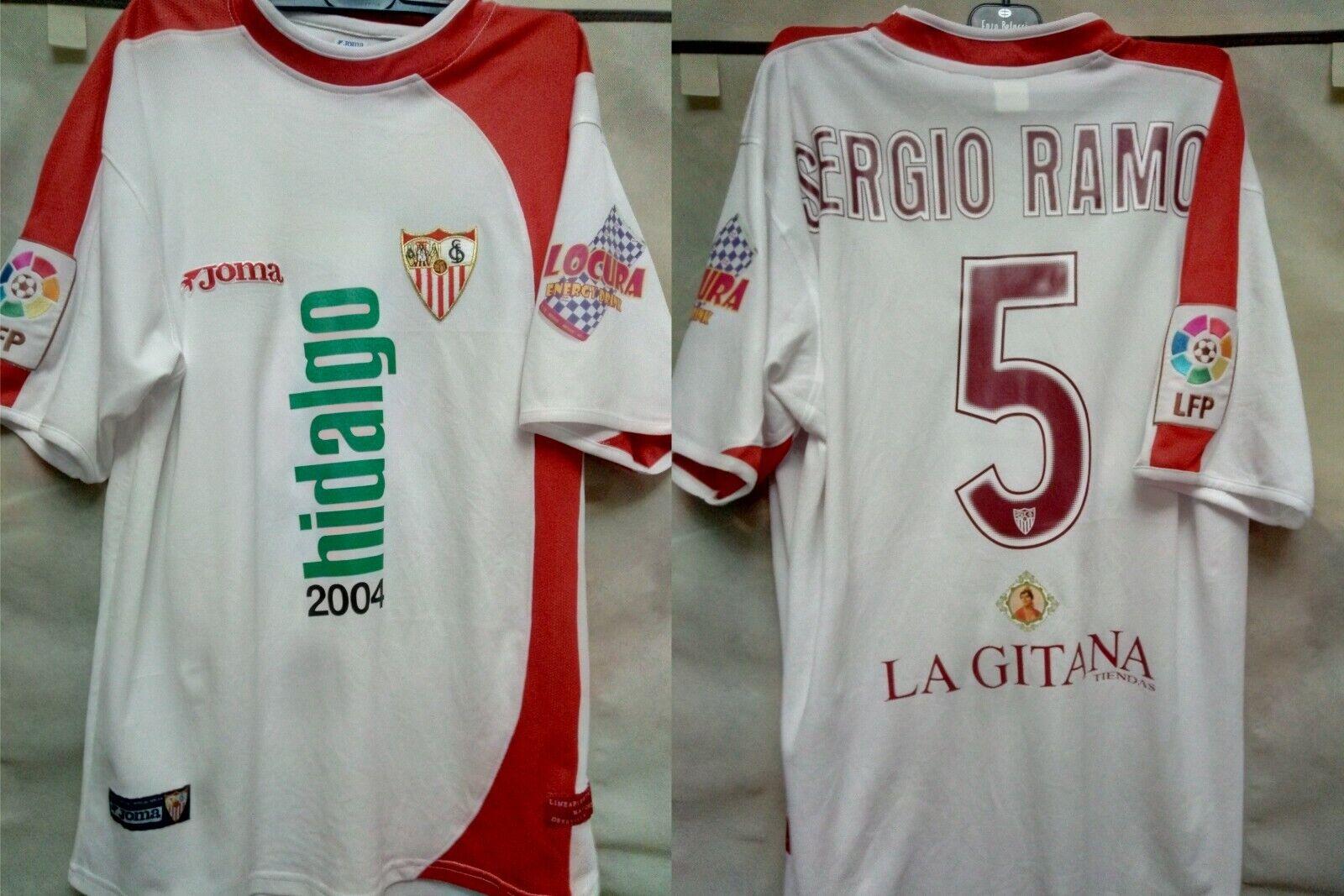 5 SERGIO RAMOS, SEVILLA FC Match Worn PLAYER home shirt, Spanish LFP 200405