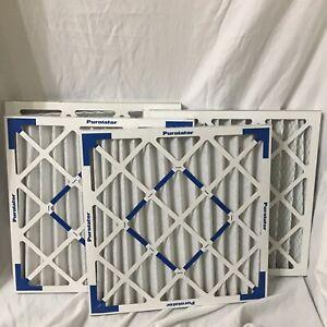 Purolator Extended Surface Air Filter 20x20x2 Lot Of 4