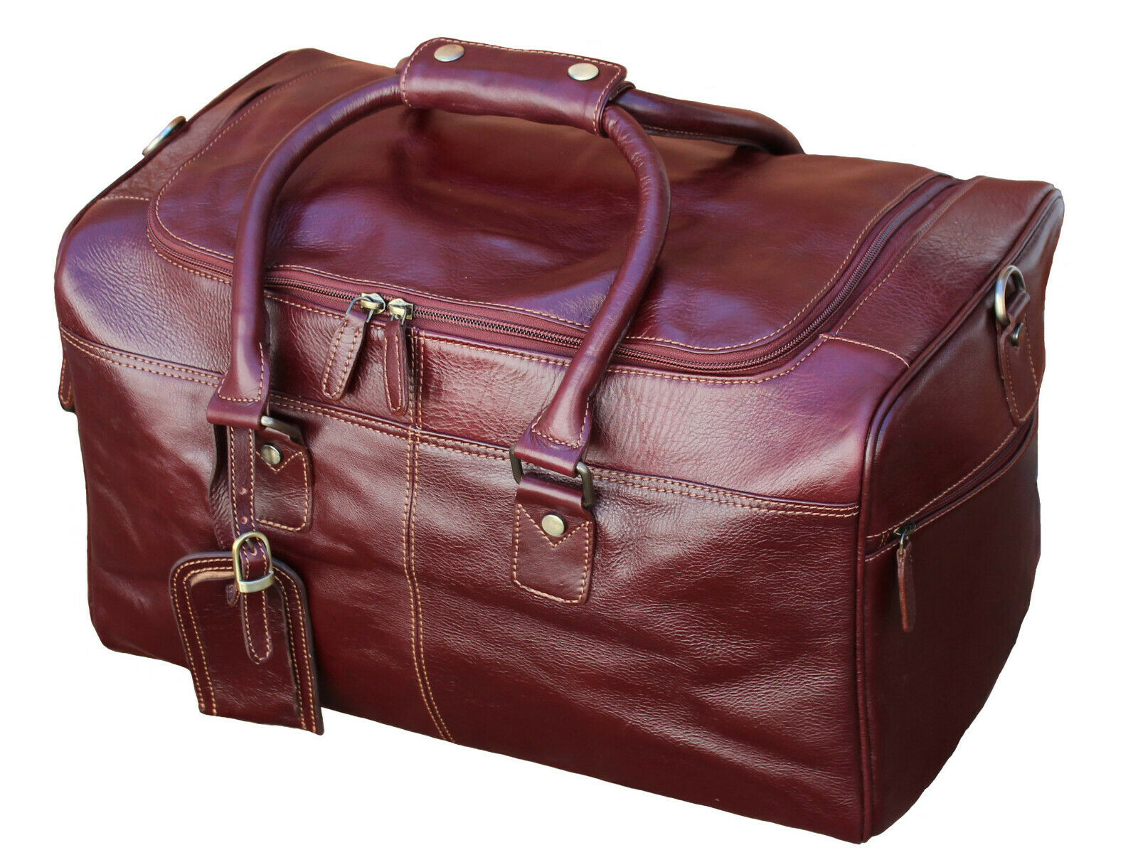 Starhide cuir Duffle Holdall Overnight voyage Weekend Flumière Cabin sac 545