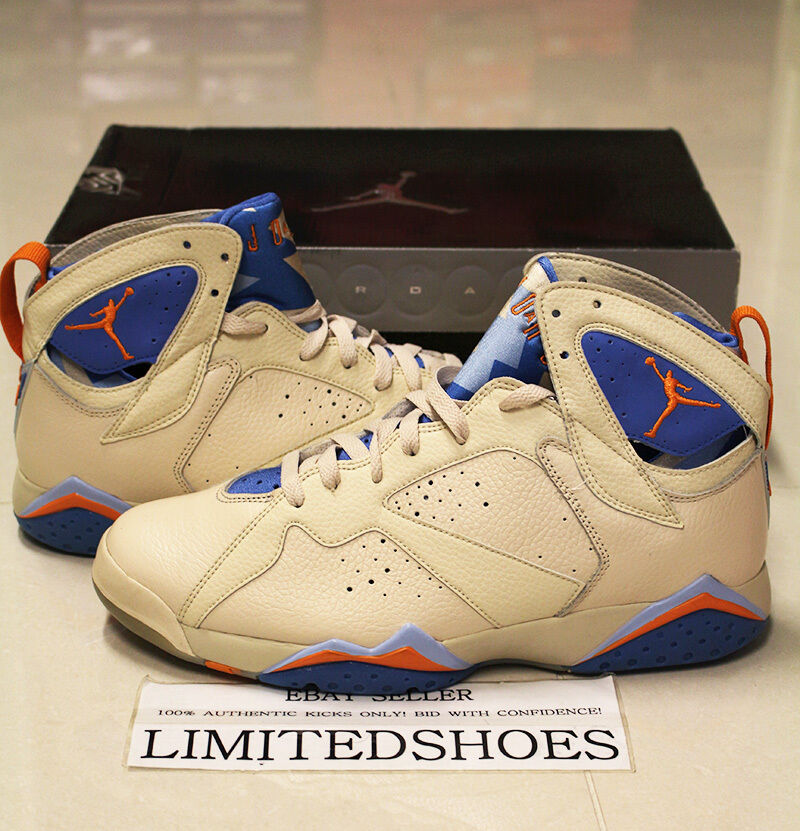 2006 NIKE AIR JORDAN 7 VII RETRO PEARL WHITE PACIFIC blueE 304775-281 US 10.5