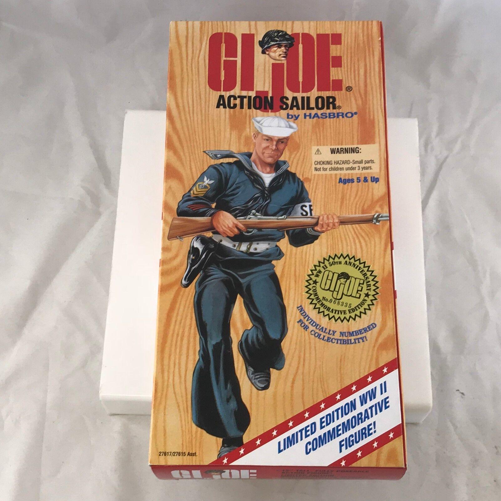 Hasbro 1995 g.i. joe - aktion seemann world war ii ltd ausgabe 12  bild selten.
