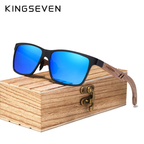 Men/'s Polarized Sunglasses UV400 Protection Wooden Frame Designer Brand Fashion
