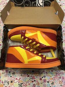 Yums-Men-Sneaker-Size-9-5-Rehab-Red-yellow-orange