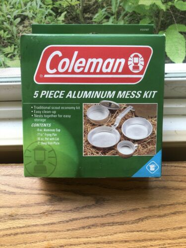 Coleman 5 Piece Aluminum Mess Kit For Camping Hiking Cooking