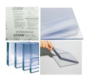 POLYCARBONATE SHEET CLEAR LEXAN MARGARD SCRATCH RESISTANT 1/4 X 12 X 30 (2 PACK)