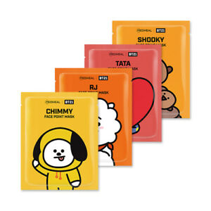 MEDIHEAL-BT21-Face-Point-Mask-1pack-4pcs-Postcard-Bookmark