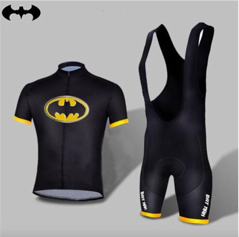 Completo  Ciclismo Batman abbigliamento maglia salopette 2 Pz.  hot sale