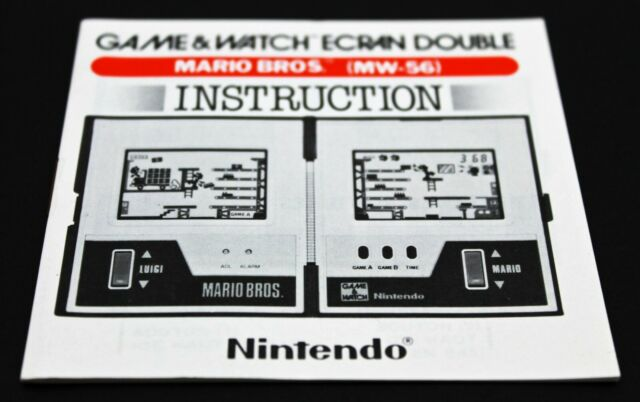Nintendo Game & Watch MW-56 Mario Bros. French Instruction Manual MINT NOS
