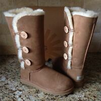 Ugg Bailey Button Triplet Triple Chestnut Boots Us 9 Womens 1873