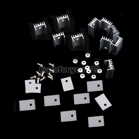 10 Piezas To-220 Plata Disipador Disipador De Calor Para Regulador De Voltaje O Mosfet