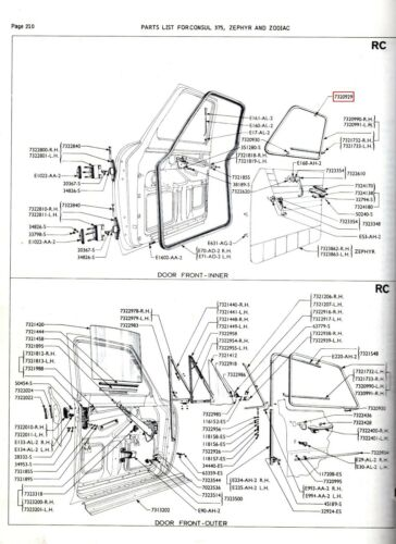 FORD DOOR WEATHERSTRIP CLIPS ANGLIA 100E MK1 MK2 CONSUL ZEPHYR ZODIAC POPULAR