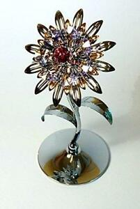 Crystocraft-Giant-Sunflower-Swarovski-Crystals-Ornament-Figurine-Flower-Gift