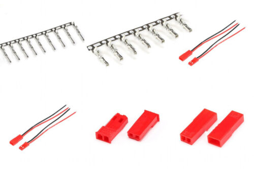 JST Crimp Terminals Connector Male Female Pin JST-2P Wire //Housing 2.54mm
