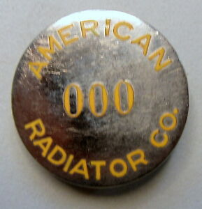 1940's WWII AMERICAN RADIATOR CO. employee badge pinback pin home front +