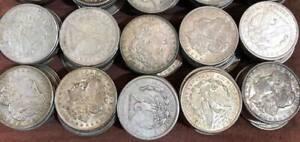 Lot of 5 1921 Morgan Silver Dollars Bullion Issues 1//4 Roll $5 Face 90/%