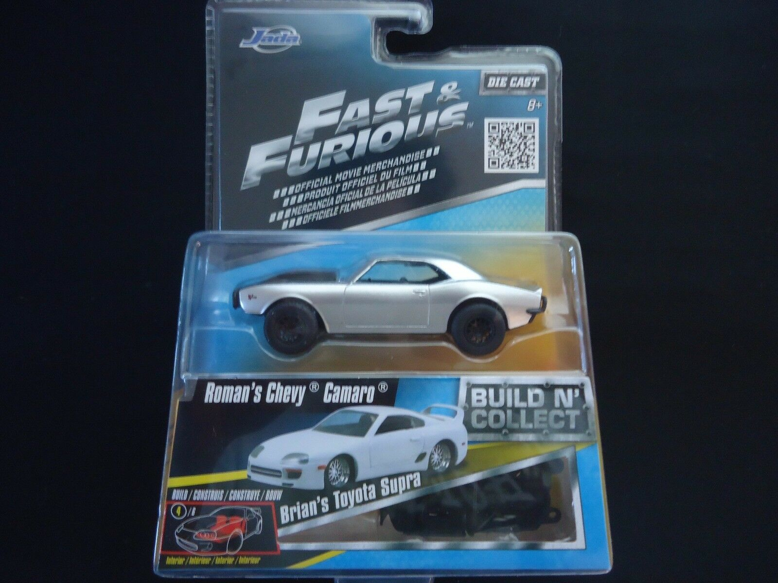 Jada Fast and Furious Assortment Set of 7 including Toyota Supra wave 1 1 55