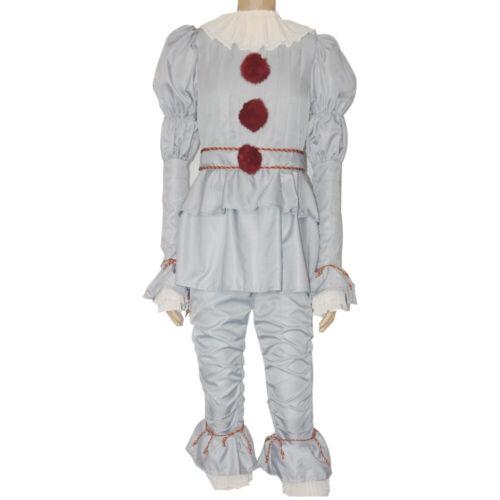 Stephen King/'s Joker Cosplay Costume Set Adult Women Men Pennywise Clown Suit