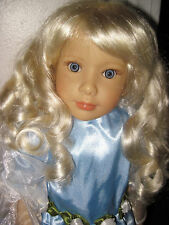 "EUC Sonja Hartmann KIDZ N CATS 18"" Doll Princess Blonde Beautiful!"