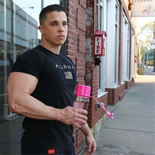 Bodybuilding Gym Motivation T-ShirtTraining Top Clothing MMA Mens Black UK