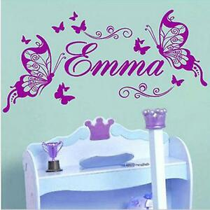 Elegant Image Is Loading Emma Any Name Butterfly Wall Stickers For Girl