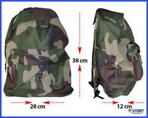 Zaino zainetto da uomo donna Viaggio Mimetica Softair Camouflage Verde Militare