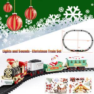 Christmas-Electric-Train-Set-Railway-Tracks-Toys-Kids-Children-Xmas-Train-Gift