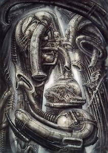 HR Giger Alien Prometheus Biomechnical Landscape II 1976 ... H.r. Giger Prometheus