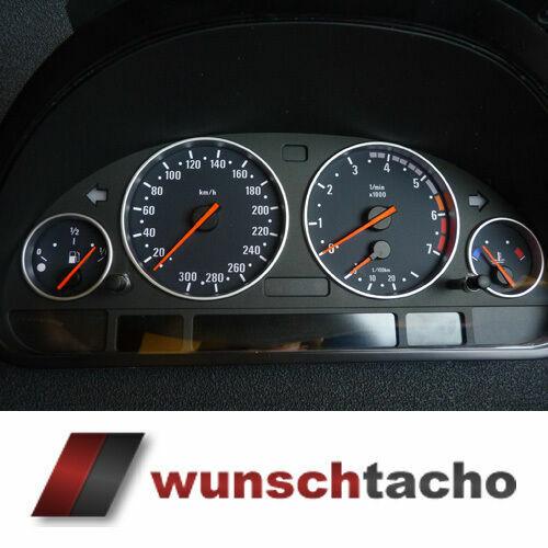 Tachoscheibe für BMW E38-E39/E53/X5 in M5-Style 300 Kmh Diesel Top!