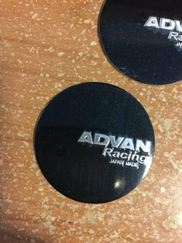 4 PCS BRAND NEW black ADVAN racing Sticker wheel center cap emblem logo 45 mm