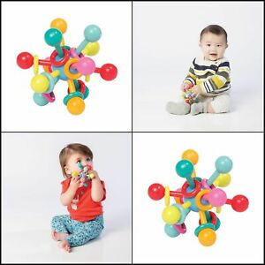 Manhattan Toy Atom Rattle /& Teether Grasping Activity Baby Toy 214200
