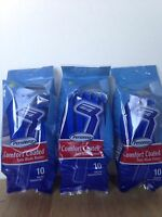 Personna Razors 3 Packs Of 10 = 30 Disposable Comfort Coated Twin Blade Razors