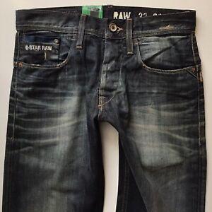 Bnwt Herren G-Star 3301 Bullet Loose dunkelblau Jeans Größe w29 l32 (678)