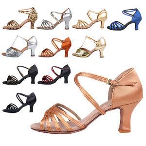 Brand-New-Women-039-s-Ballroom-Latin-Tango-Dance-Shoes-heeled-Salsa-12-style-Hot