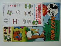 Micky Maus Nr. 44 - 1986 - komplett mit Beilage - Zustand 1/1-2