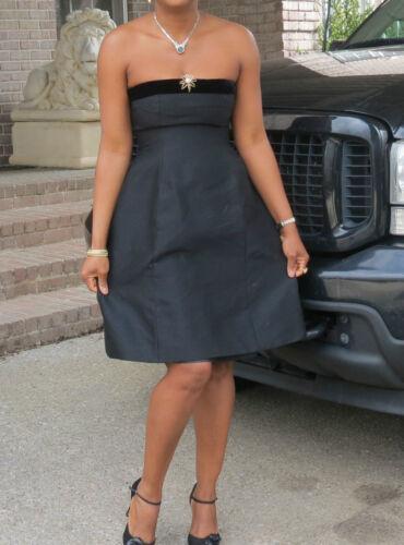 Couture zwarte getailleerde Renta Oscar La 4 ontwerper De jurk SUMzVqpG