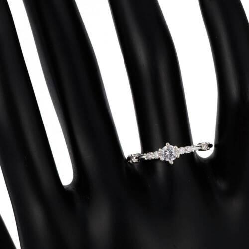 Carino Donne Oro fiocco di neve 7 anelli di cristallo Anelli Delicato Cristallo Gioielli Da Sposa