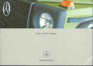 MERCEDES-G-Klasse-G-Class-461-Owner-s-manual-2003-2004-Handbook-Handbuch-BA