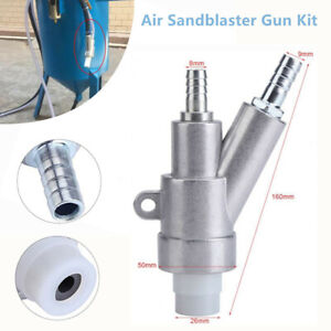 Stainless Steel Air Sandblaster Gun Kit 35mm Nozzle For Box Manual Sandblasting